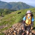 8/13 0636 薬師岳に向けて頑張って登ってます
