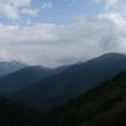 今日歩いた山々、左奥は黒部五郎岳