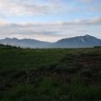 0610薬師岳に登る途中。左端槍が岳、歩いてきた山々を見渡せる、感動!