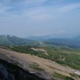 折立方面もみえる。太郎山、昨日歩いたトレイルを振り返る