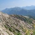 薬師岳より五色が原、立山、剣、後立山連峰