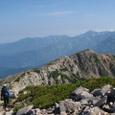北薬師岳の稜線と弥陀ヶ原、立山方面