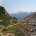 間山へ行く途中、裏銀座の山々