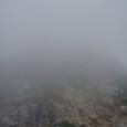 1240越中沢岳への登り。真っ白