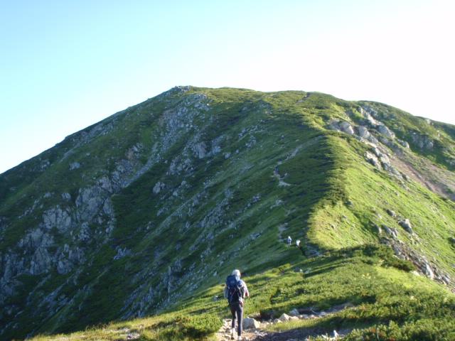 丸山を越え、三俣蓮華岳へ