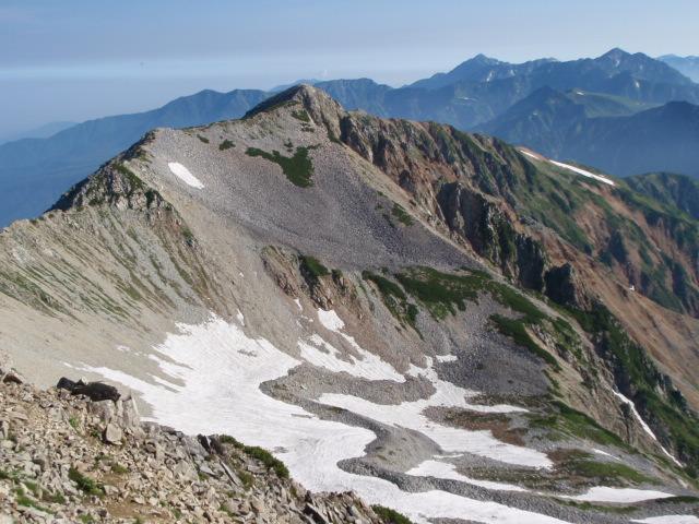 北薬師岳、後ろは立山方面